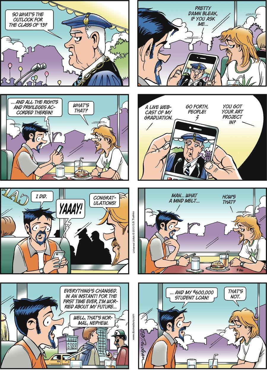 Doonesbury Comic Strip for May 26, 2013