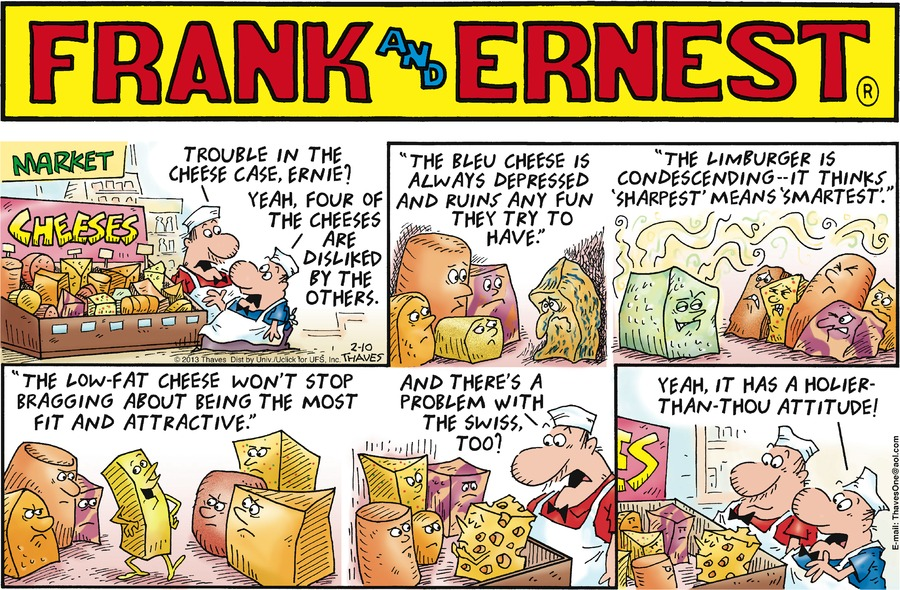 Frank and Ernest for Feb 10, 2013 Comic Strip
