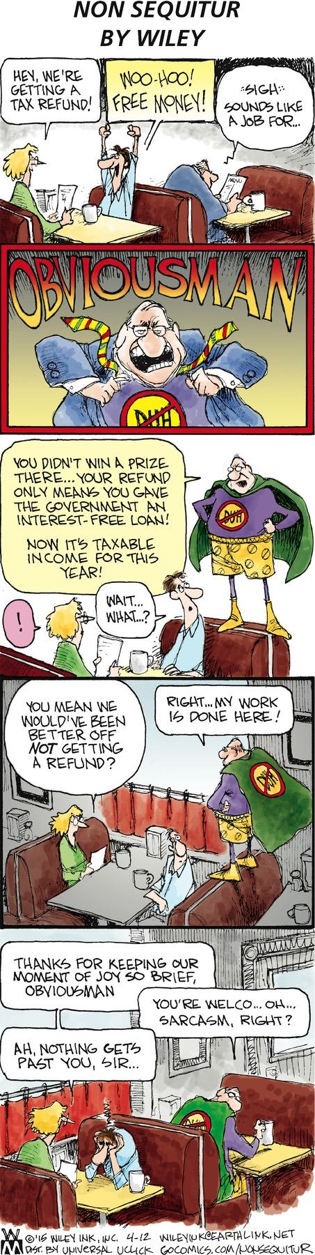 Non Sequitur Comic Strip for April 12, 2015