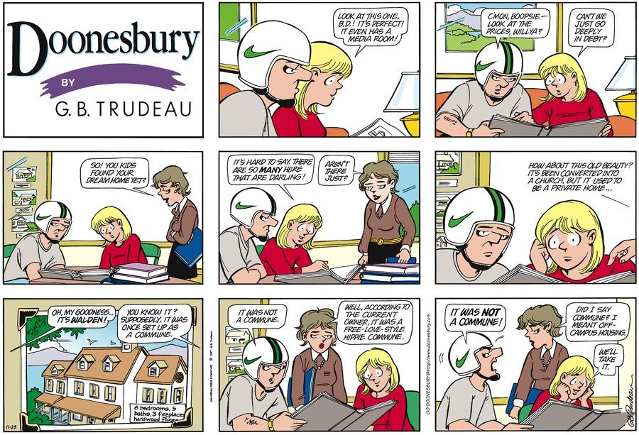Doonesbury Comic Strip for November 23, 1997