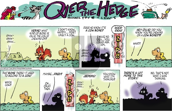 Over the Hedge on Sunday March 31, 2019 Comic Strip