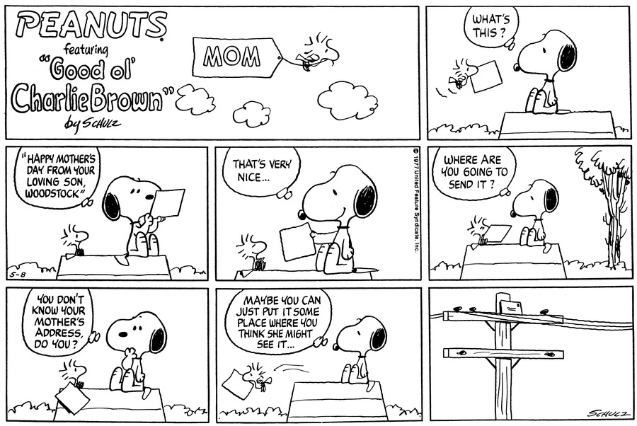Peanuts Comic Strip for May 08, 1977