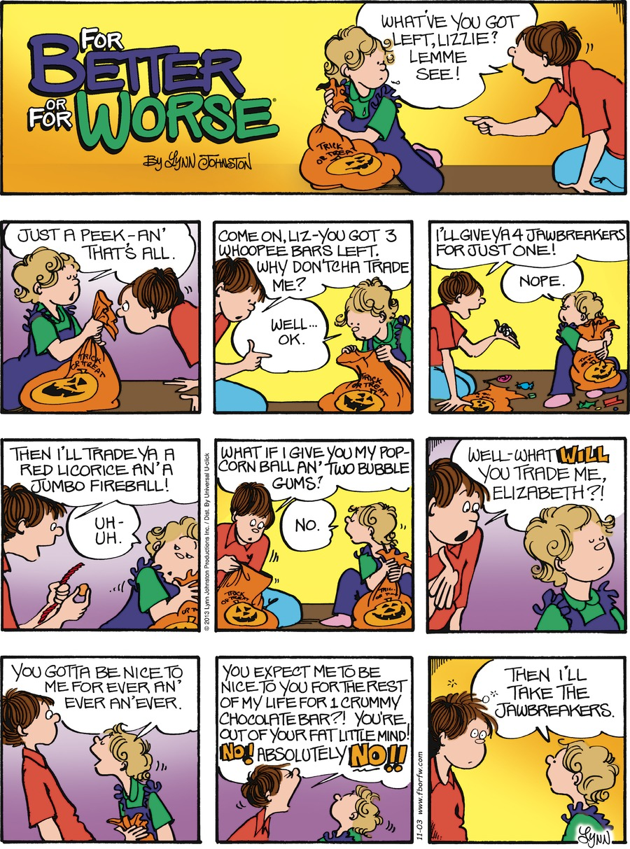 For Better or For Worse for Nov 3, 2013 Comic Strip