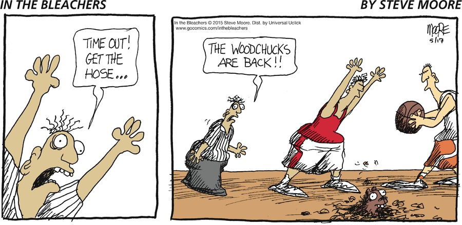 Time out!  Get the hose....the Woodchucks are back!!