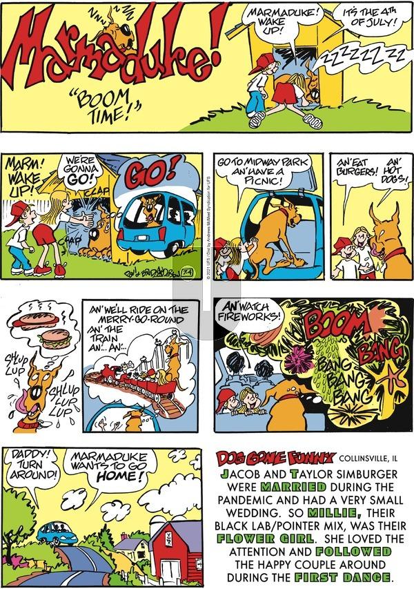 Marmaduke on Sunday July 4, 2021 Comic Strip