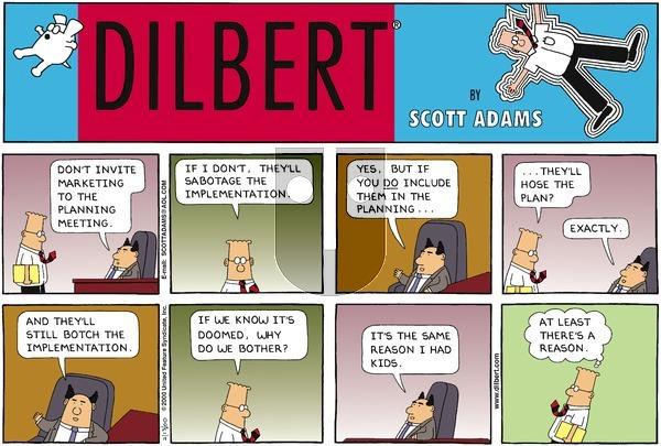 Dilbert on Sunday February 13, 2000 Comic Strip