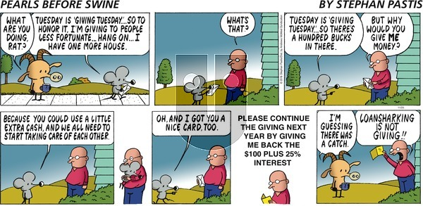 Pearls Before Swine on Sunday November 25, 2018 Comic Strip