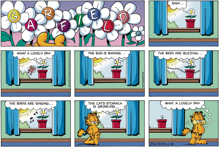 Garfield Comic Strip for June 18, 2000