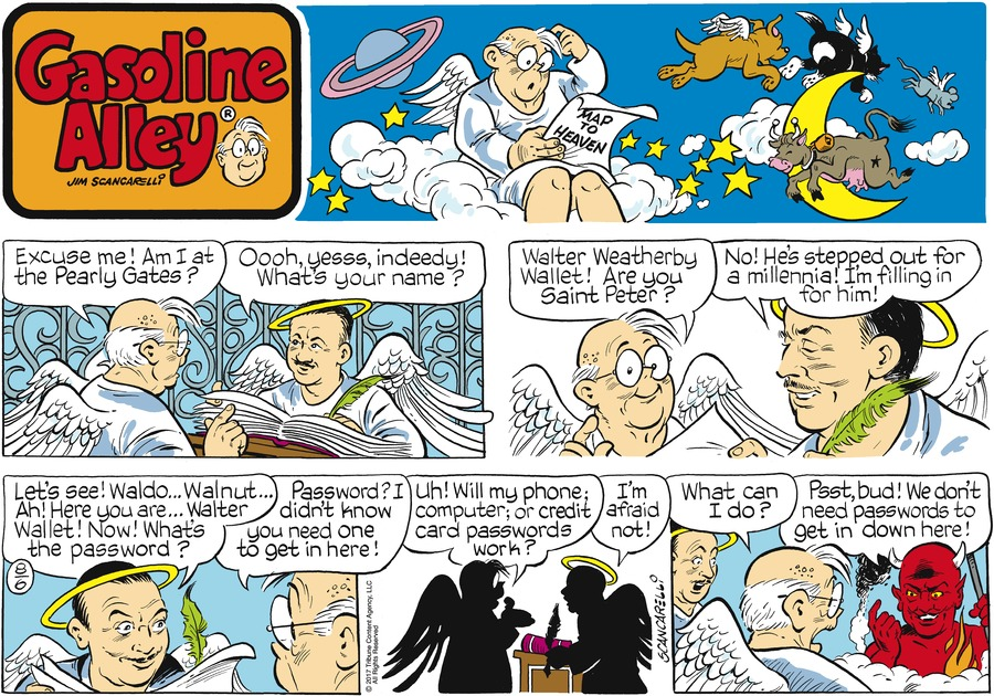 Gasoline Alley Comic Strip for August 06, 2017