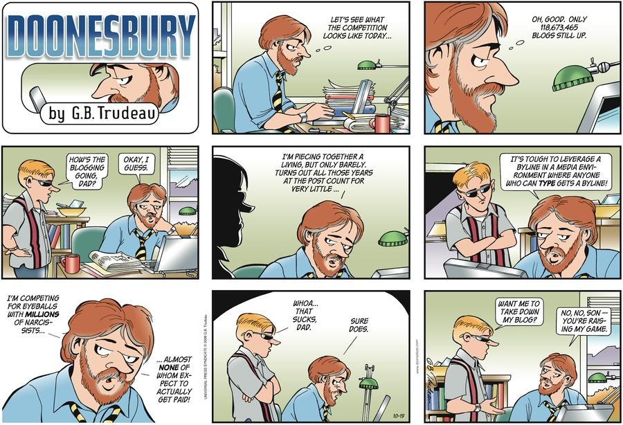 Doonesbury for Oct 19, 2008 Comic Strip