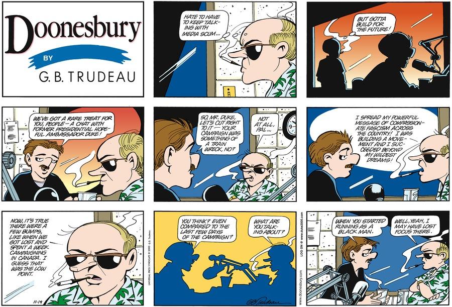 Doonesbury for Nov 19, 2000 Comic Strip