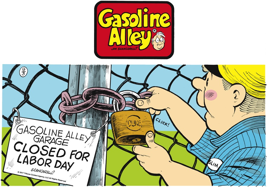Gasoline Alley Comic Strip for September 03, 2017