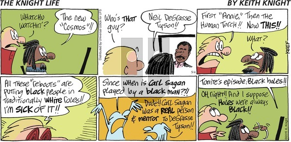 The Knight Life on Sunday May 4, 2014 Comic Strip