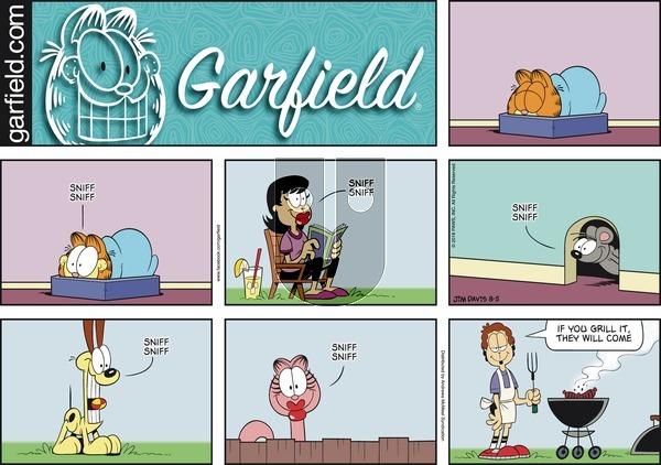 Garfield on Sunday August 5, 2018 Comic Strip