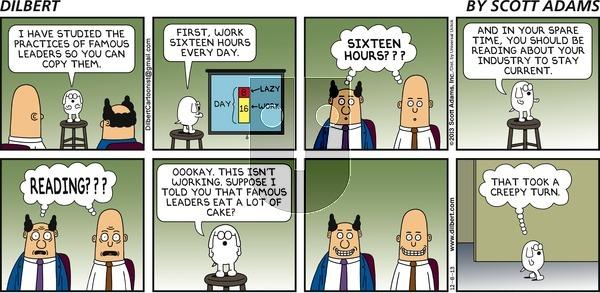 Dilbert - Sunday December 8, 2013 Comic Strip