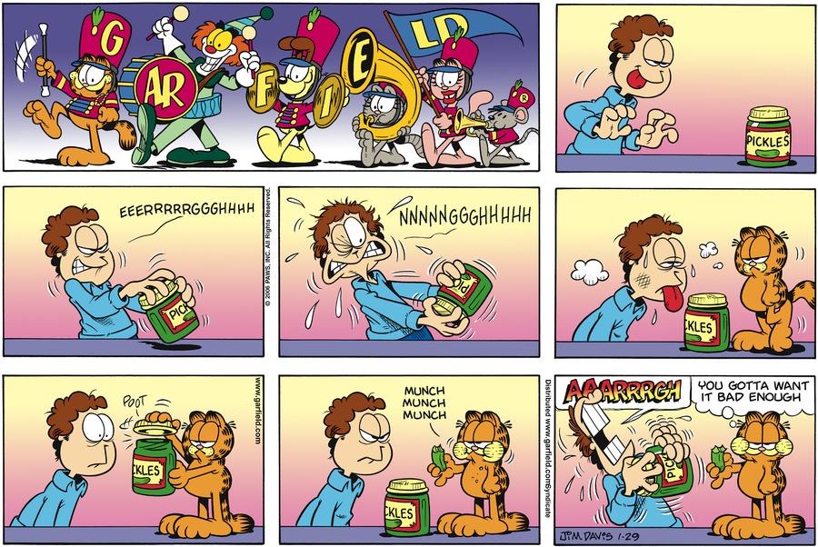 Garfield Comic Strip for January 29, 2006