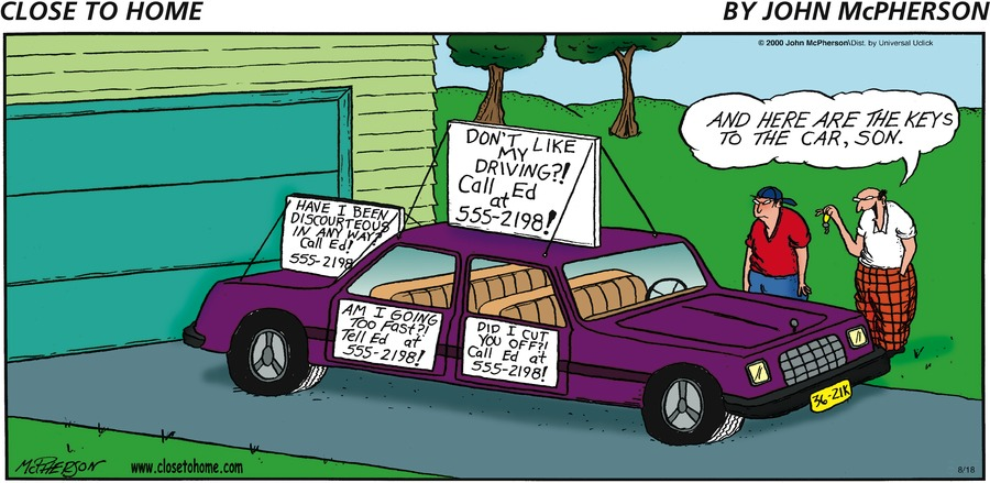 Close to Home for Aug 18, 2013 Comic Strip