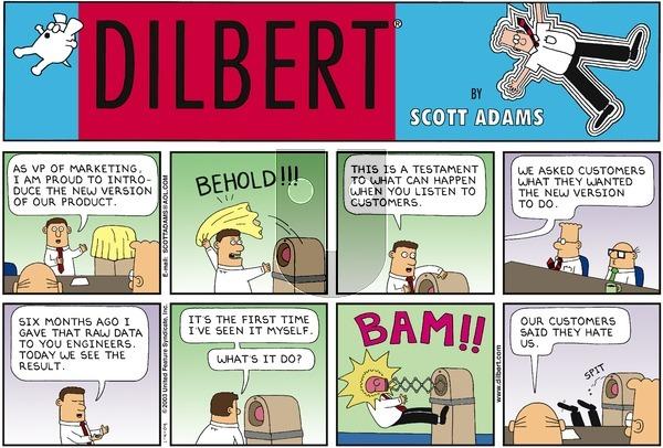 Dilbert on Sunday January 4, 2004 Comic Strip