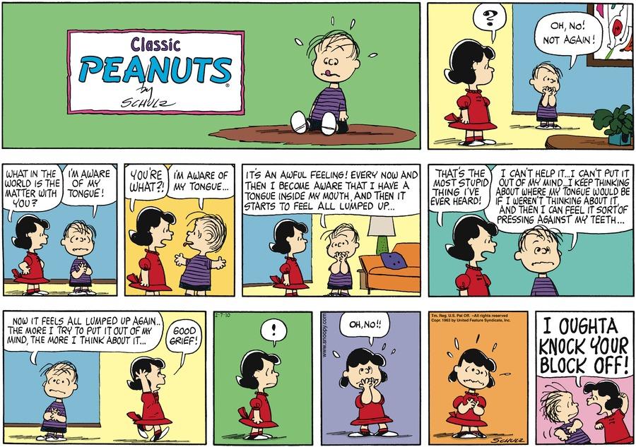 Peanuts Comic Strip for February 07, 2010
