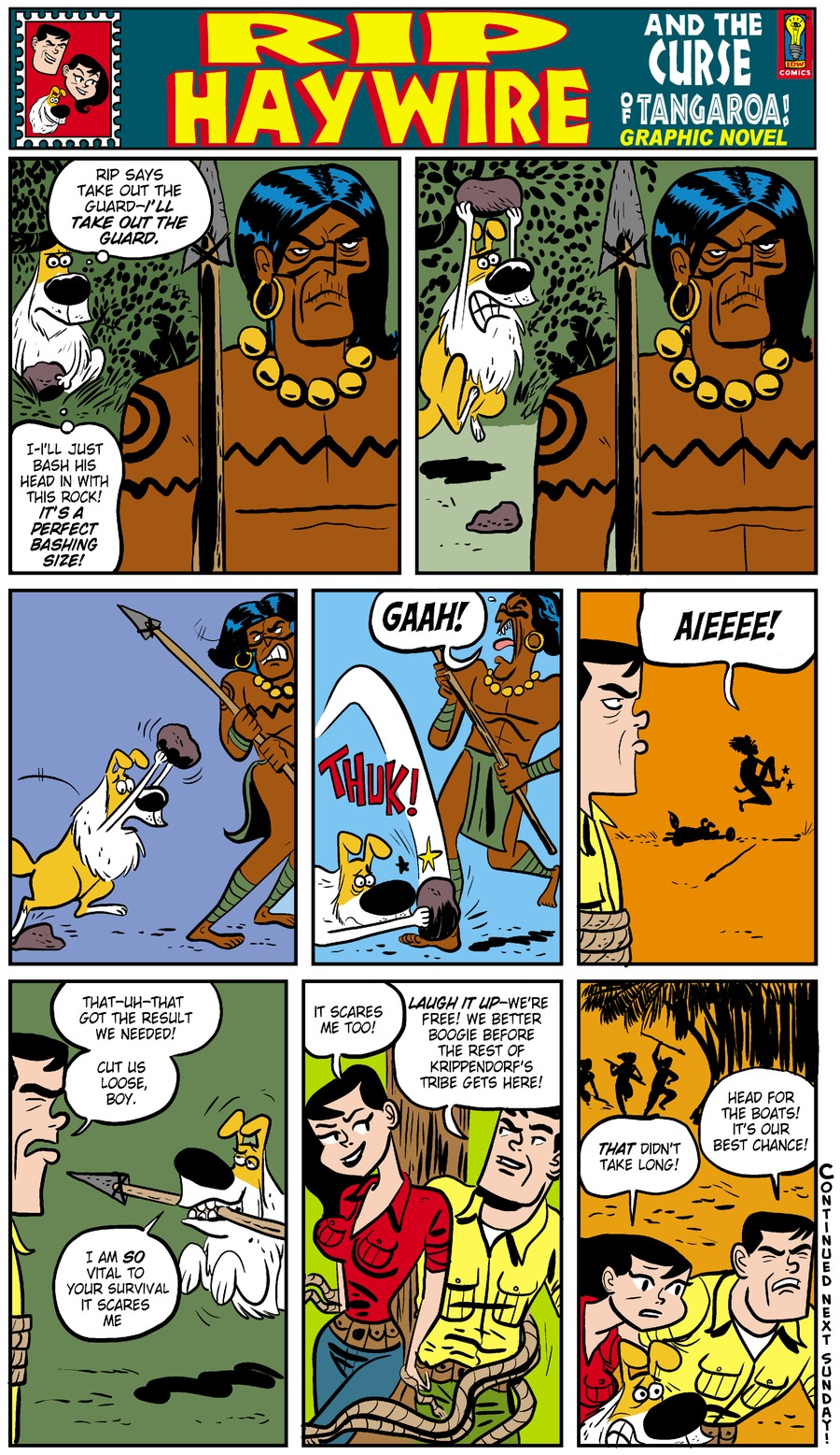 Rip Haywire Comic Strip for February 16, 2014