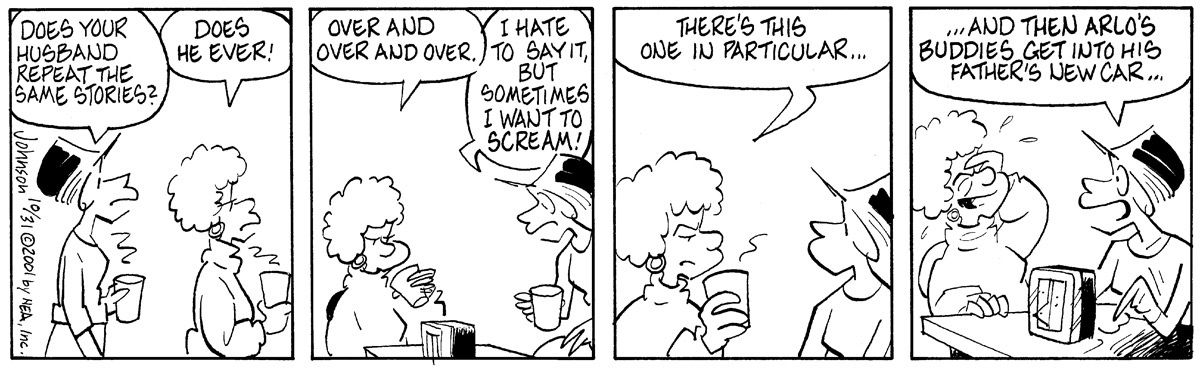 Arlo and Janis Comic Strip for October 31, 2001