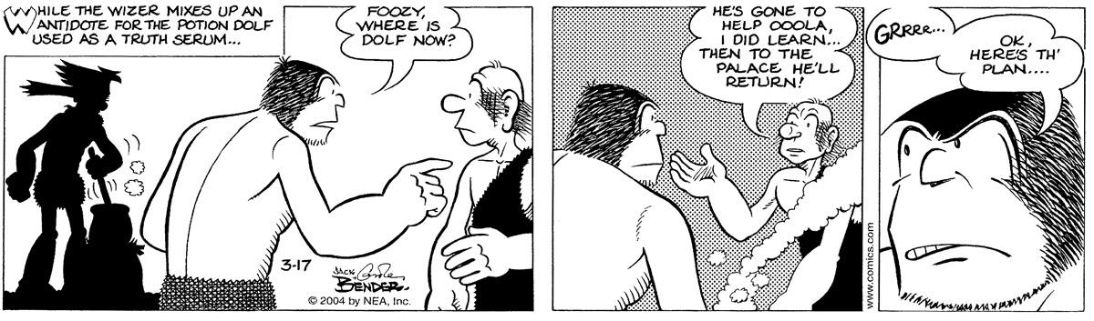 Alley Oop for Mar 17, 2004 Comic Strip