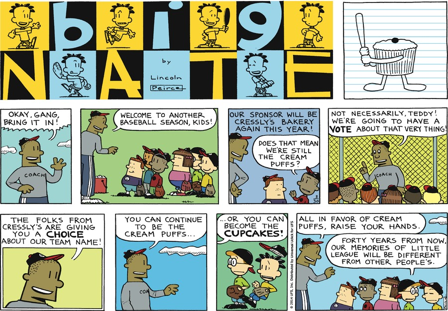 Big Nate Comic Strip for March 30, 2014