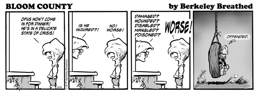 Bloom County 2018 by Berkeley Breathed for January 25, 2019