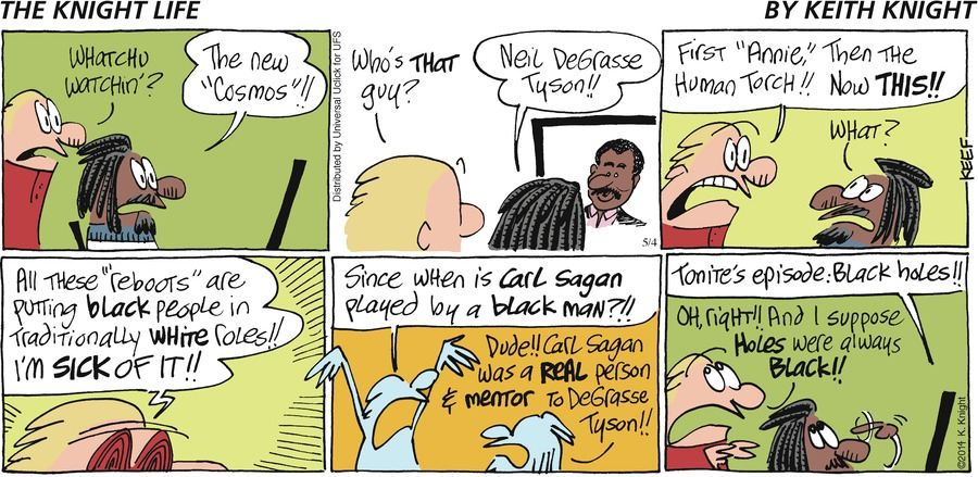The Knight Life for May 4, 2014 Comic Strip