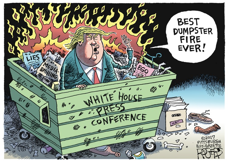 Rob Rogers Comic Strip for February 19, 2017