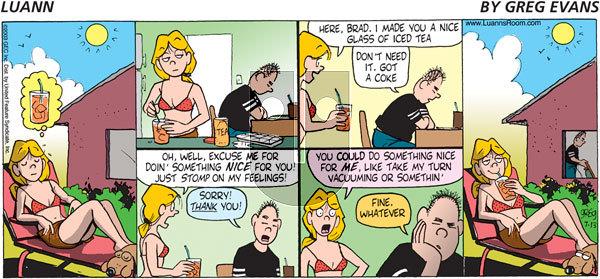 Luann on Sunday July 13, 2003 Comic Strip