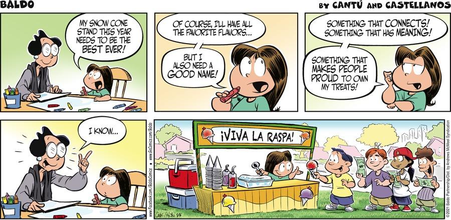 Baldo Comic Strip for May 16, 2021