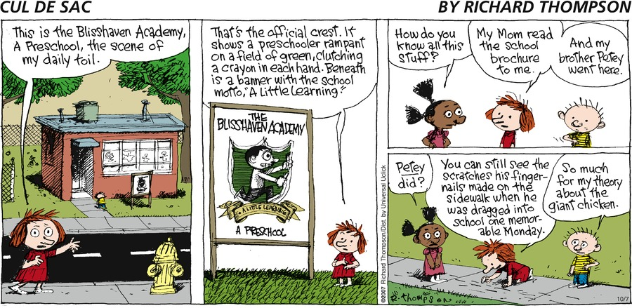 Cul de Sac Comic Strip for October 07, 2012
