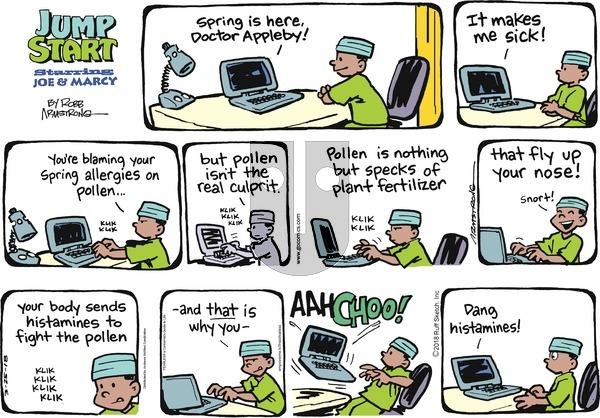 JumpStart on Sunday March 25, 2018 Comic Strip