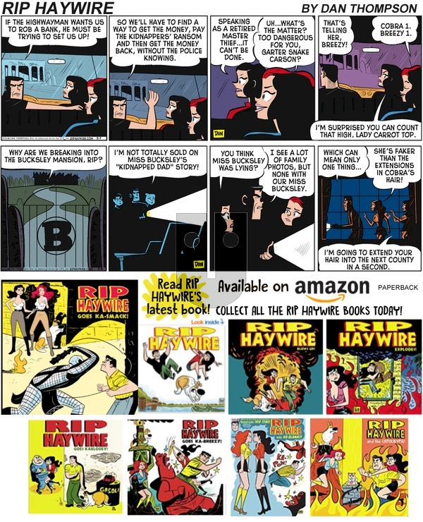 Rip Haywire - Sunday August 11, 2019 Comic Strip
