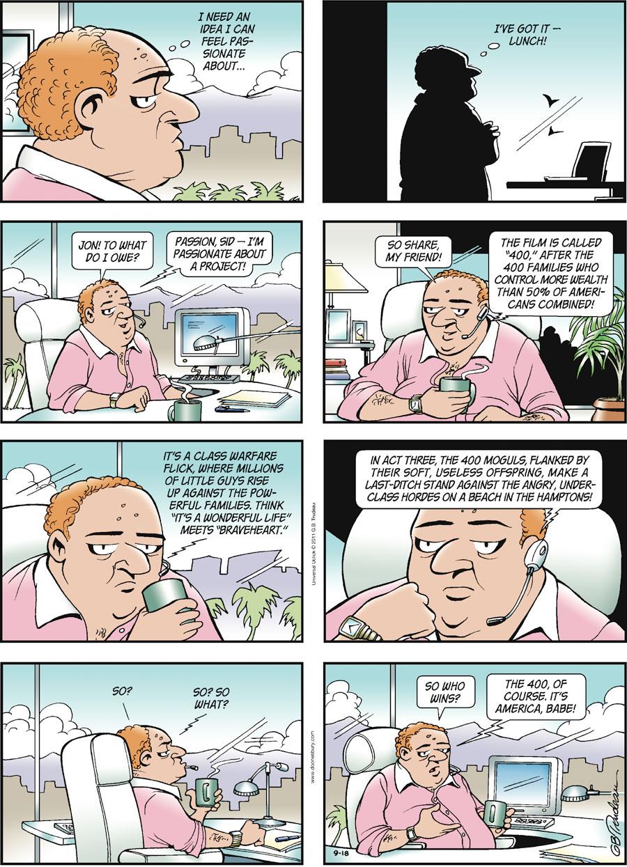 Doonesbury for Sep 18, 2011 Comic Strip