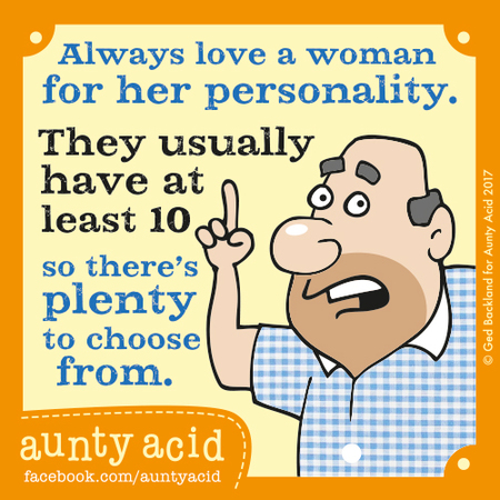 Aunty Acid for Nov 4, 2017 Comic Strip