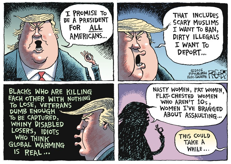 Rob Rogers Comic Strip for November 13, 2016