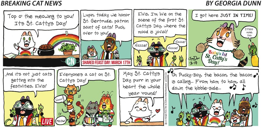 Breaking Cat News Comic Strip for March 17, 2019