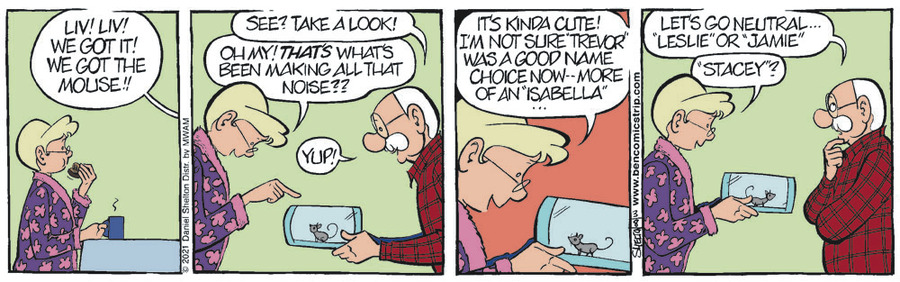Ben Comic Strip for March 08, 2021