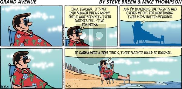 Grand Avenue on Sunday July 10, 2016 Comic Strip