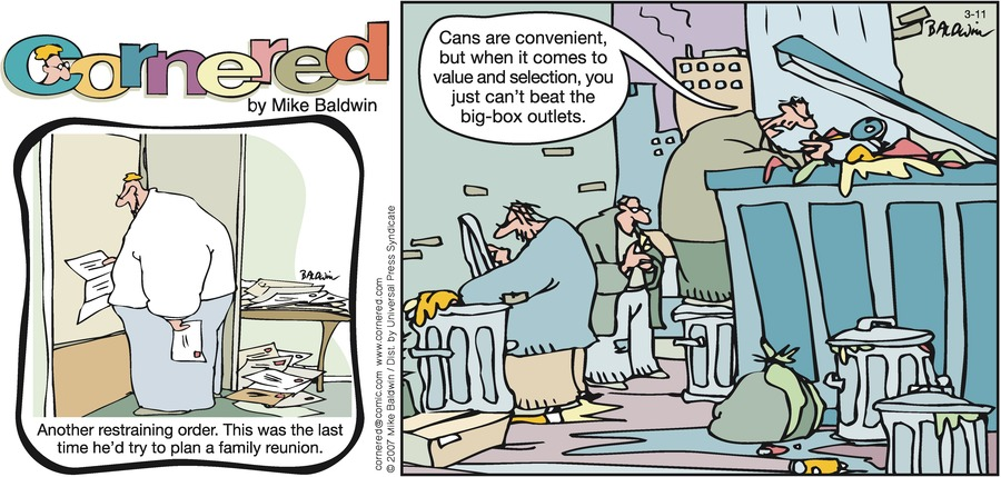 Cornered Comic Strip for March 11, 2007