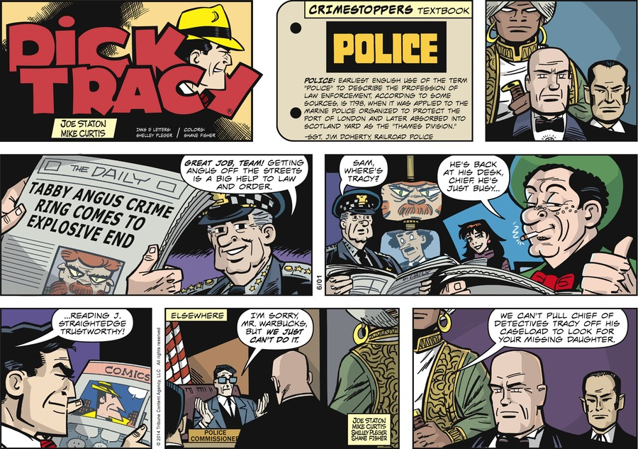 Dick Tracy Comic Strip for June 01, 2014
