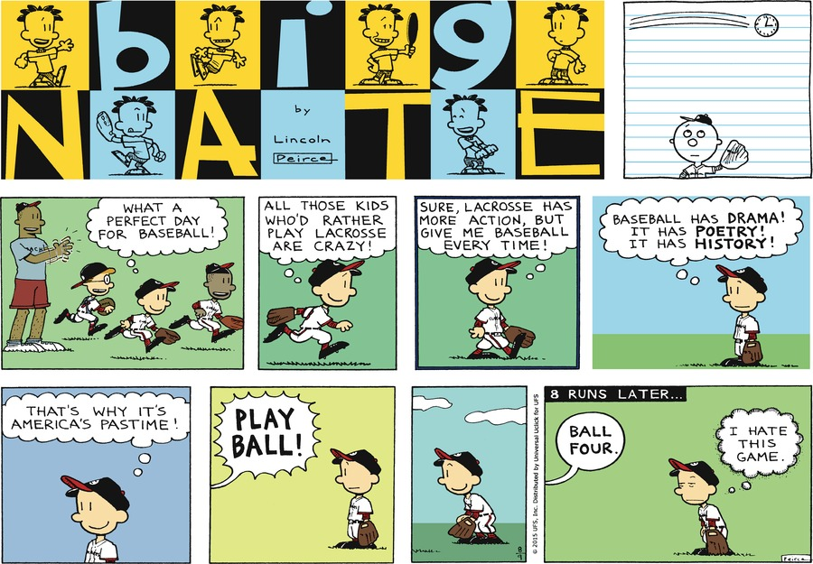 Big Nate Comic Strip for August 09, 2015