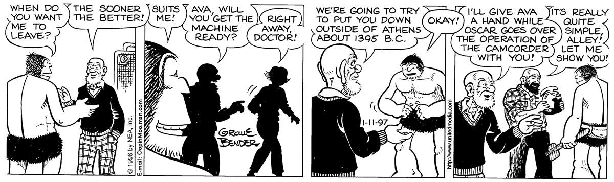 Alley Oop for Jan 11, 1997 Comic Strip
