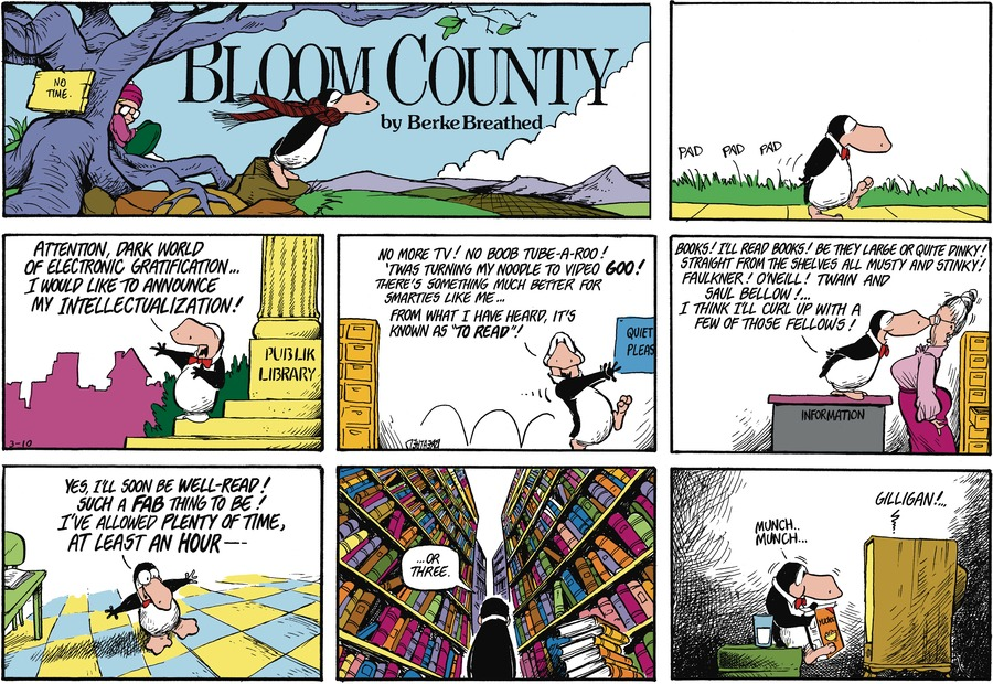 Bloom County by Berkeley Breathed on Sat, 20 Feb 2021