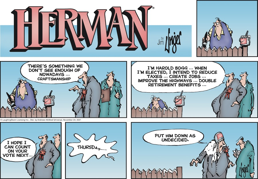 Herman by Jim Unger on Sun, 24 Oct 2021