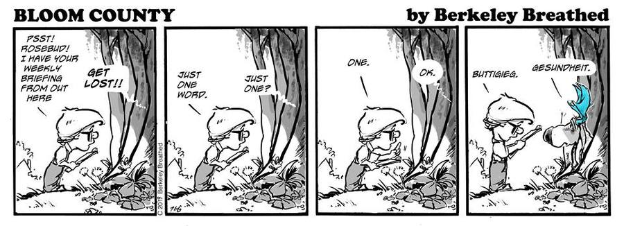 Bloom County 2018 by Berkeley Breathed for April 10, 2019
