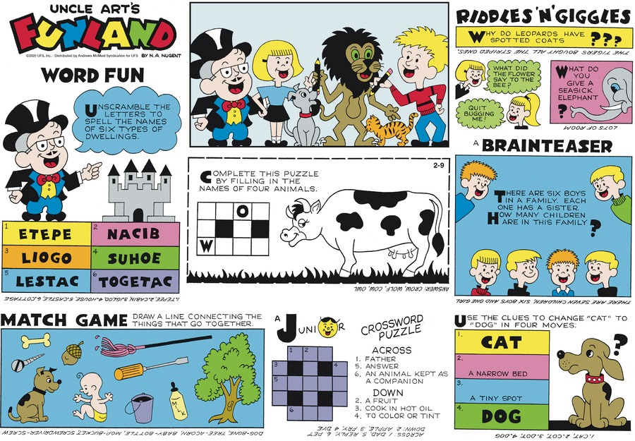Uncle Art's Funland Comic Strip for February 09, 2020