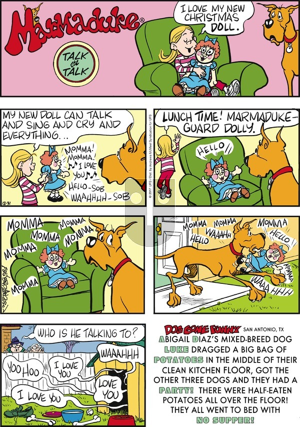 Marmaduke on Sunday December 31, 2017 Comic Strip